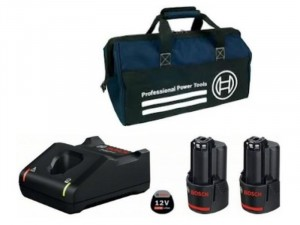 Bosch GAL 12V-40 töltő +2 x GBA 2,0Ah akkumulátor + táska