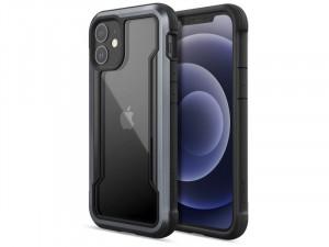 Apple iPhone 12 mini Raptic Defense Shield PC - Aluminium Fekete tok