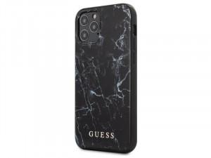 Apple iPhone 12 mini Guess Fekete mintás Polikarbonát - Poliuretán tok