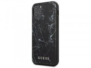 Apple iPhone 12 Guess Fekete mintás Polikarbonát-Poliuretán tok