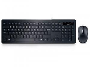 Genius Slimstar C130 USB fekete magyar billentyűzet, egér