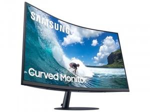 Samsung C32T550FDR - 24 colos Ívelt FHD LED VA AMD FreeSync Sötétkék szürke monitor