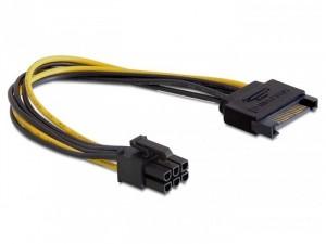 Delock PCI Express 6 pin - SATA 15 pin kábel