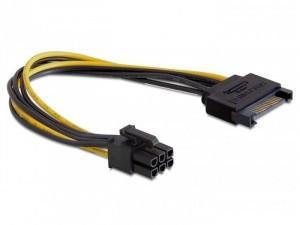 Delock PCI Express 6 pin - SATA 15 pin kábel