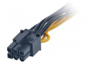 Akasa 2x SATA - 6pin PCIe - 15cm adapter kábel