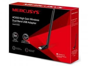 Mercusys MU6H AC650 High Gain Vezeték nélküli Dual Band USB Adapter