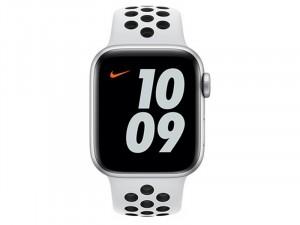 Apple Watch Nike SE 2020 GPS 40mm Ezüst alumínium tok Fehér-Fekete Nike szíjjas Okosóra