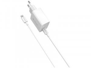 Devia PD 20W Fehér Gyorstöltő fej Type-C - Lightning kábellel
