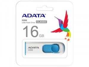 ADATA C008 16GB USB 2.0 Fehér Flash Drive