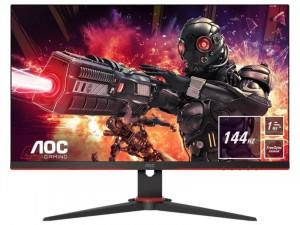 AOC 27G2AEBK - 27 colos 144Hz Ívelt WLED, IPS , Fekete-Piros Gamer monitor