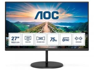 AOC Q27V4EA - 27 colos IPS - WLED AdaptiveSync Fekete monitor