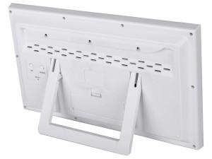 Bresser MyTime Jumbo LCD falióra, fehér