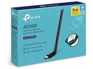 TP-LINK ARCHER T2U Plus AC600 Vezeték nélküli USB Adapter