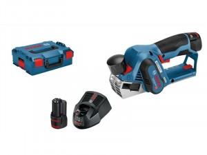 Bosch GHO 12V-20 akkus gyalu gyalukéssel, töltővel, akkuval, dobozban