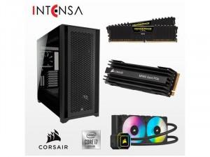 INTENSA PC - CORSAIR GAMING PRO Intel® Core™ i7 Processzor-10700, 16GB RAM, 500GB SSD, NVIDIA RTX 3060, 650W Táp, FreeDOS, Asztali számítógép