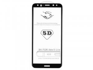 Xiaomi Redmi Note 9 Ütésálló fólia (az íves részre is!), Tempered Glass (edzett üveg), Fekete Kijelzővédő fólia