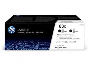 HP (83X) Fekete duo-pack nagy kapacitású toner