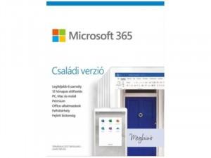 Office 365 Otthoni családi verzió (1év, 6 felhasználó) szoftver