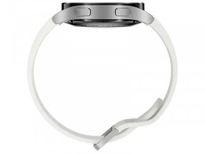 Samsung Galaxy Watch 4 R860 Bluetooth Alumínium házas 40mm Ezüst Okosóra, Fehér sportszíjjal