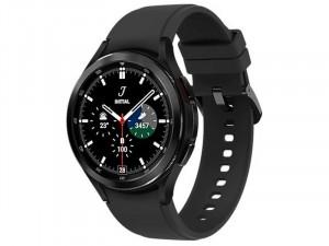 Samsung Galaxy Watch 4 R890 Bluetooth Rozsdamentes Acél házas 46mm Fekete Okosóra, Fekete sportszíjjal