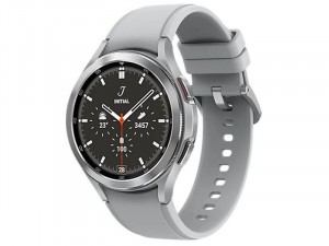 Samsung Galaxy Watch 4 Classic R890 Bluetooth Rozsdamentes Acél házas 46mm Ezüst Okosóra, Ezüst sportszíjjal
