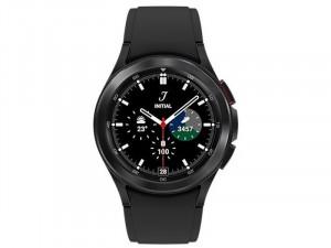 Samsung Galaxy Watch 4 Classic R880 Bluetooth Rozsdamentes Acél házas 42mm Fekete Okosóra, Fekete sportszíjjal