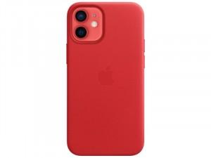 Apple iPhone 12 mini Eredeti Apple MagSafe Piros Bőr tok