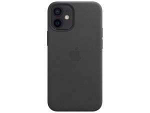 Apple iPhone 12 mini Eredeti Apple MagSafe Fekete Bőr tok