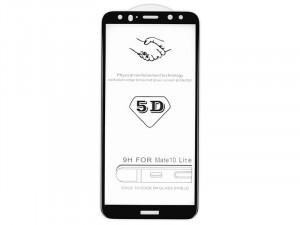 Xiaomi Redmi Note 8 , ütésálló fólia (az íves részre is!), Tempered Glass (edzett üveg), fekete Kijelzővédő fólia