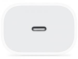 Hálózati töltő adapter, 20W, USB Type-C aljzat, gyorstöltés, PD, fehér