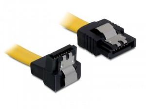 DeLock DL82806 kábel SATA 6 Gb/s fém rögzítővel le - egyenes kábel 30 cm