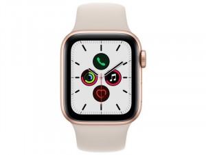 Apple Watch SE 2021 GPS 40mm Arany Alumínium Ház Csillagfény Sportszíjjal