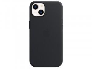 Apple iPhone 13 Eredeti Apple MagSafe-rögzítésű Éjfekete Bőr tok