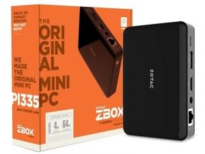 ZOTAC ZBOX PI335 Pico Intel® Celeron N4100, 4GB, 64GB eMMC, Intel® UHD Graphics, Win10 Pro 64 bit Fekete Mini Asztali PC
