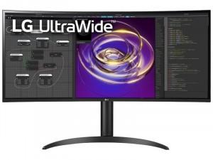 LG 34WP85C-B - 34 colos QHD UltraWide™ IPS 21:9 Ívelt kijelzős Fekete monitor